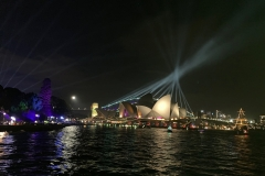 Opera House with bridge backlighting