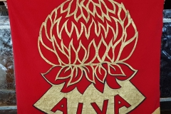 Sylvia Raye and the ALVA Banner